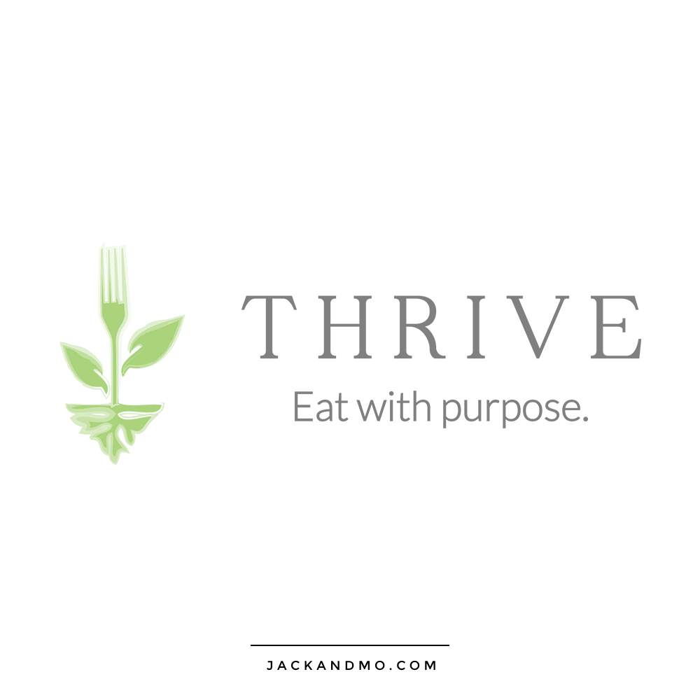 thrive_eat_with_purpose_logo_design