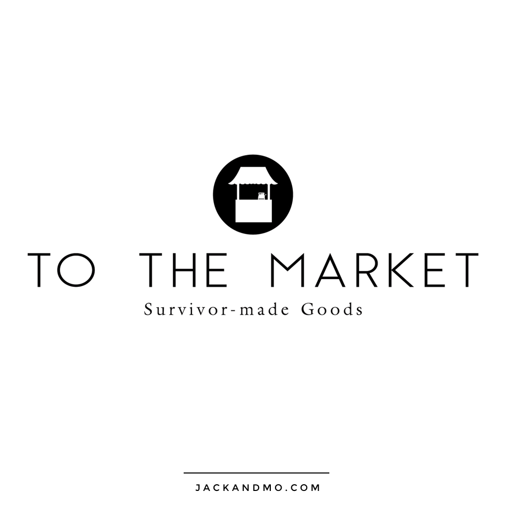 To The Market Survivor Made Goods Black and White Cool Custom Logo Design by Jack and Mo, Raleigh NC
