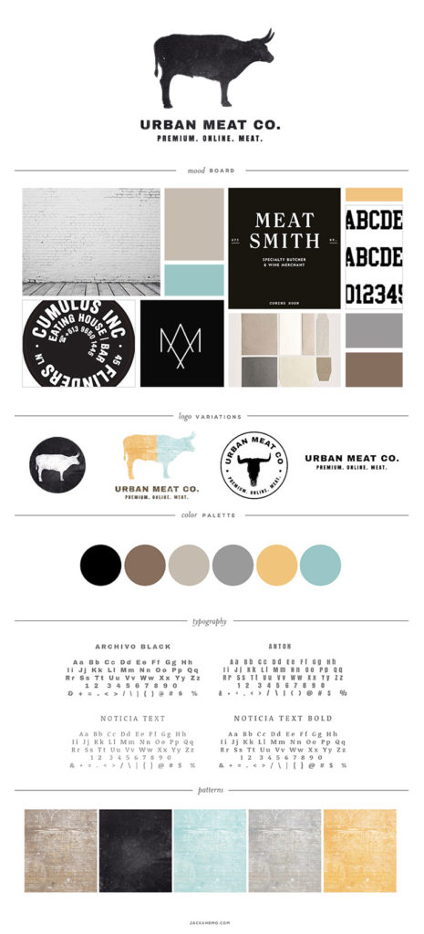 Urban Meat Co. Logo Design and Branding, Jack and Mo, Raleigh, NC