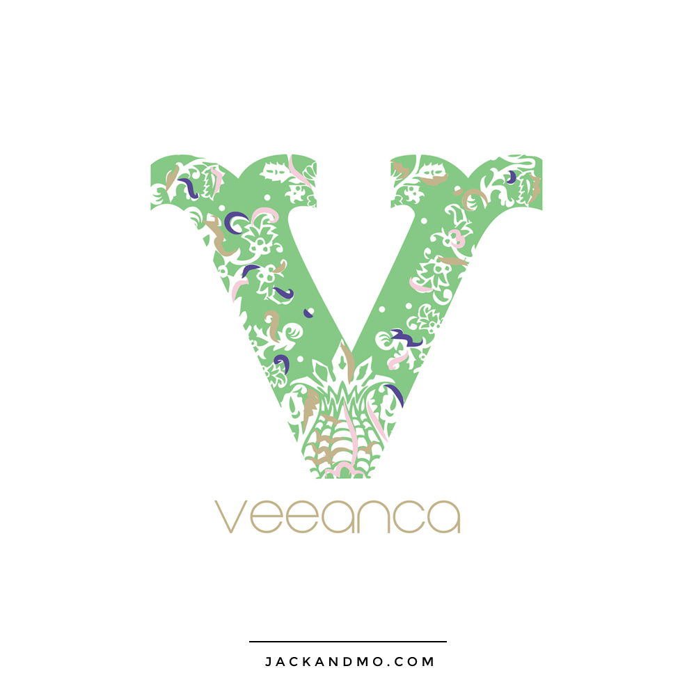 Monogram Logo Design with Gorgeous Colors Custom Boutique by Jack and Mo Raleigh NC