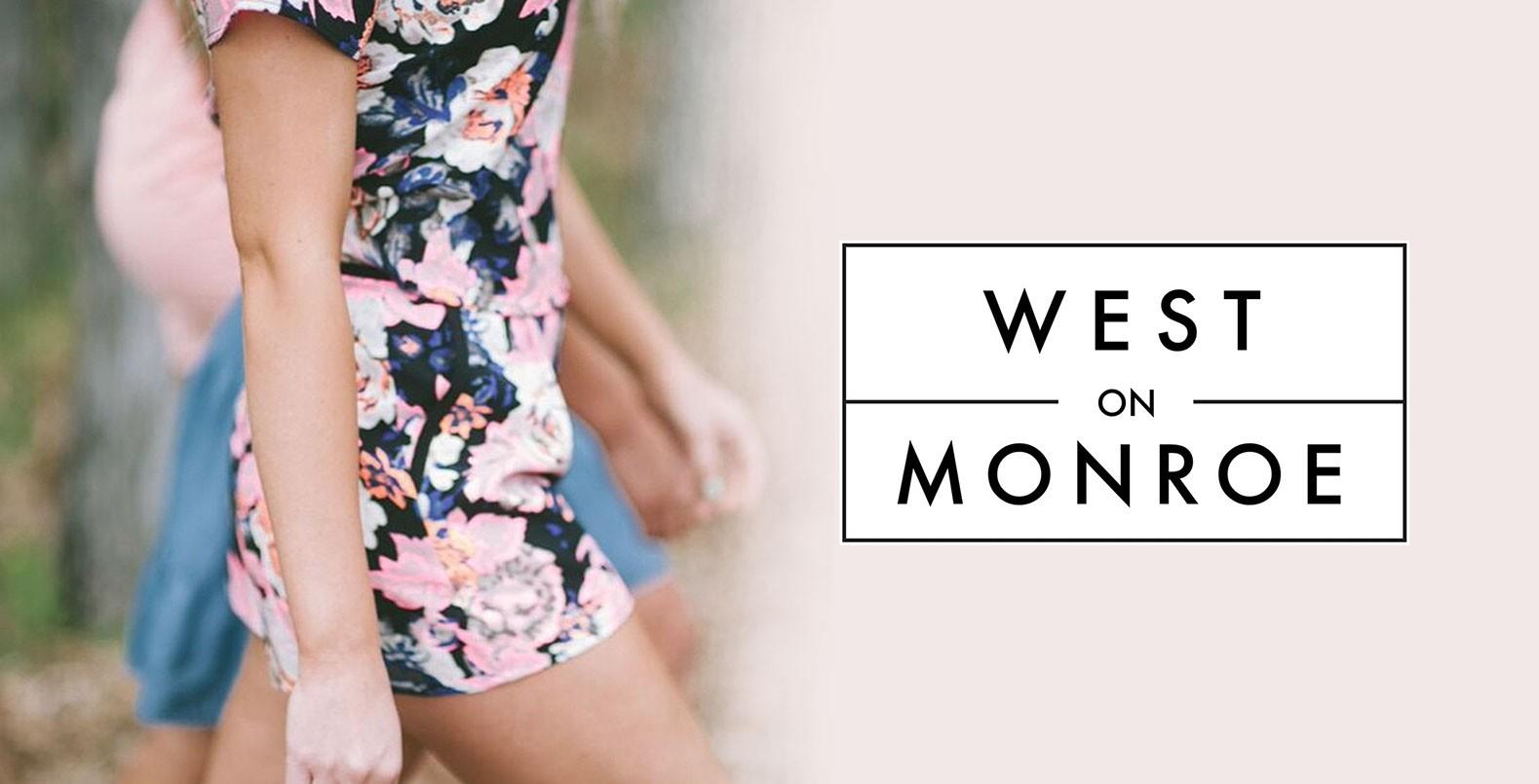 West on Monroe, a clean modern logo design for a fashion brand