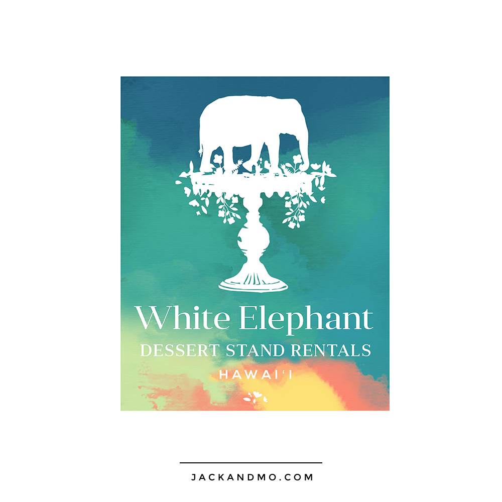 Vintage Rentals, Elephant, Cool Custom Painted Logo Design by Jack and Mo