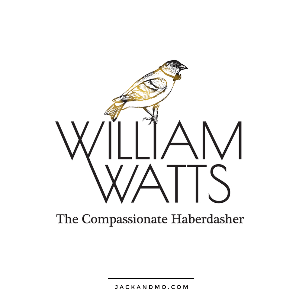 Cool Custom Bird Illustration Drawing Logo Design by Jack and Mo, Black and White with Gold Foil