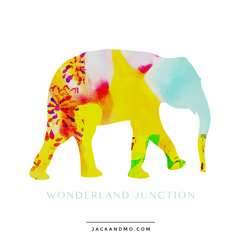 Painted Elephant Watercolor Logo Design by Jack and Mo, Boutique Design