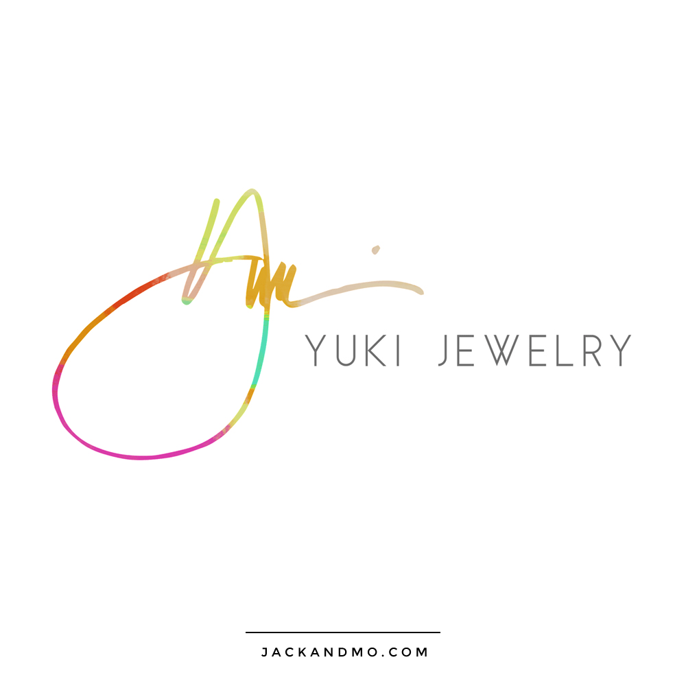 Hand Painted Signature Logo for a Jewelry Company, by Jack and Mo