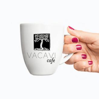 Jack and Mo Vacavi Cafe Black and White Logo Design