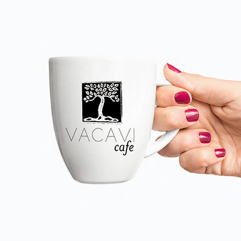 Jack and Mo Vacavi Cafe Black and White Logo Design