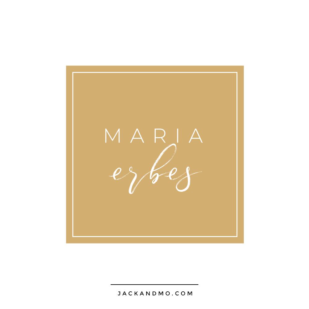 Maria Erbes Professional Stylist Custom Logo Design