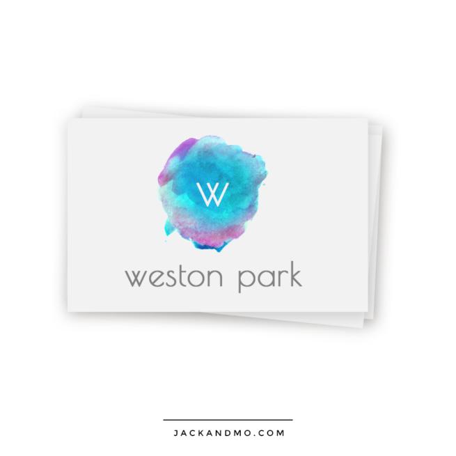 Color Blend Watercolor Logo Design