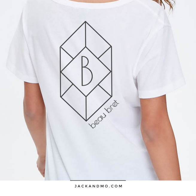 A Simple Geometric Logo Design in Matte Black