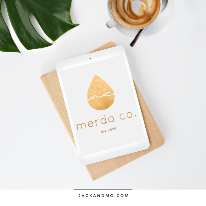 Golden Metallic Drop Logo Design
