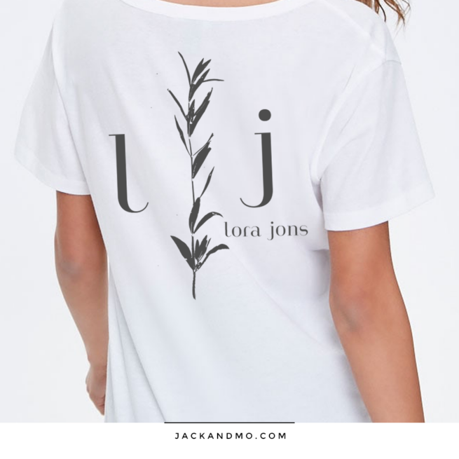 Plant Drawing Modern Custom Logo Design