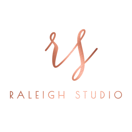 Rose Gold Monogram Logo Design, Beautiful Feminine Logo by Jack and Mo