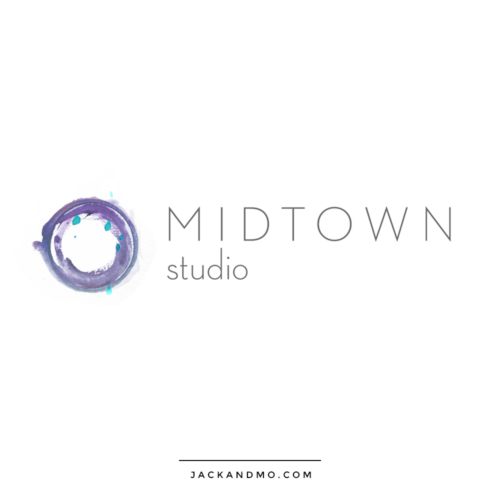 Beautiful Painted Yoga Studio Logo for Purchase, by Jack and Mo, Meredith Myers
