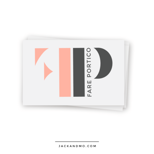 Modern Peach Logo Design Custom by Jack and Mo