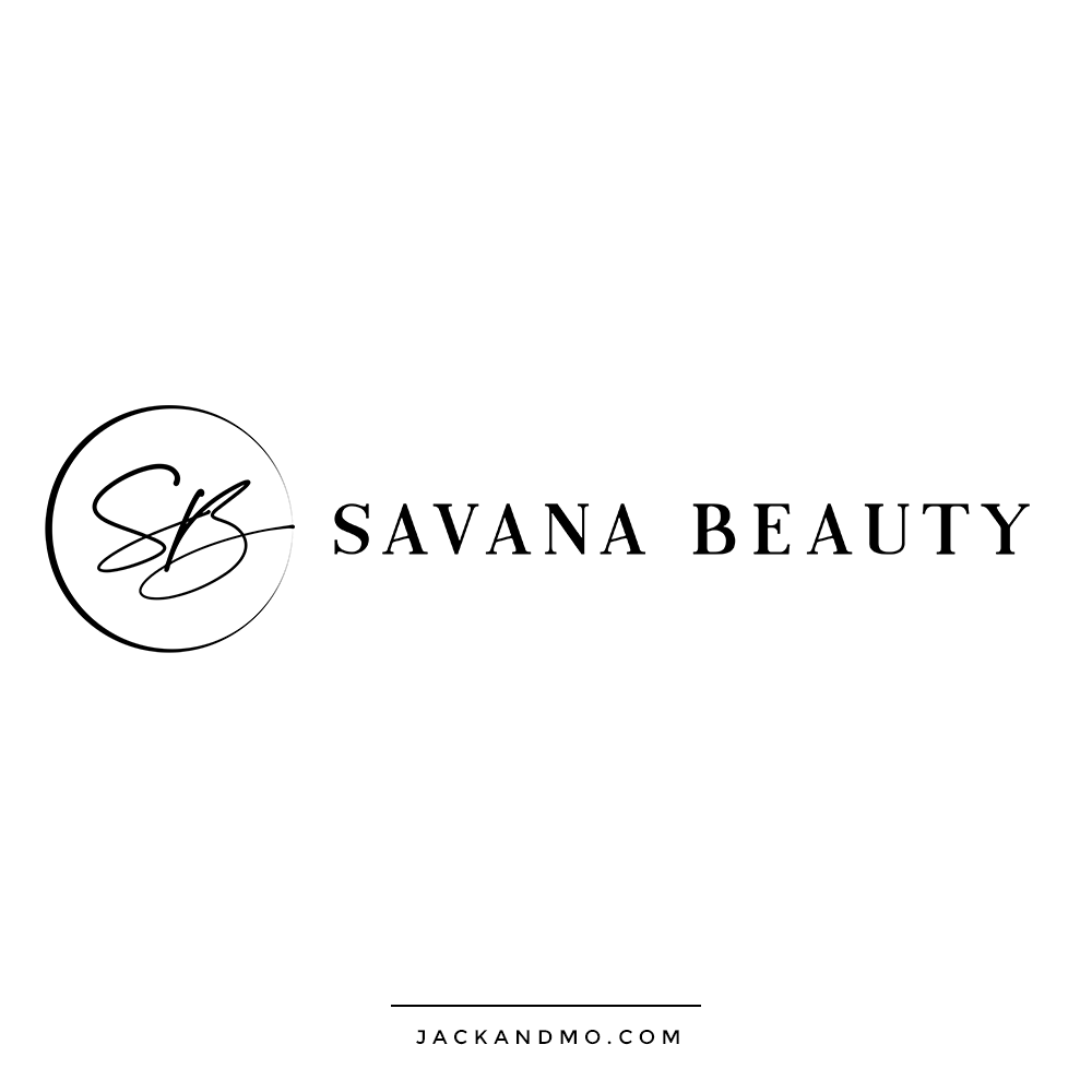 Simple Black and White Modern Feminine Logo Design for Beauty Brand by Jack and Mo