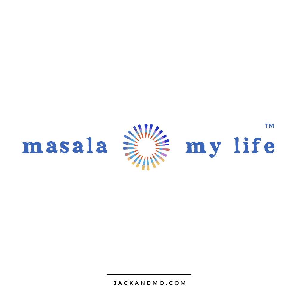 Beautiful Hand-Painted Logo Design for Masala my Life by Jack and Mo