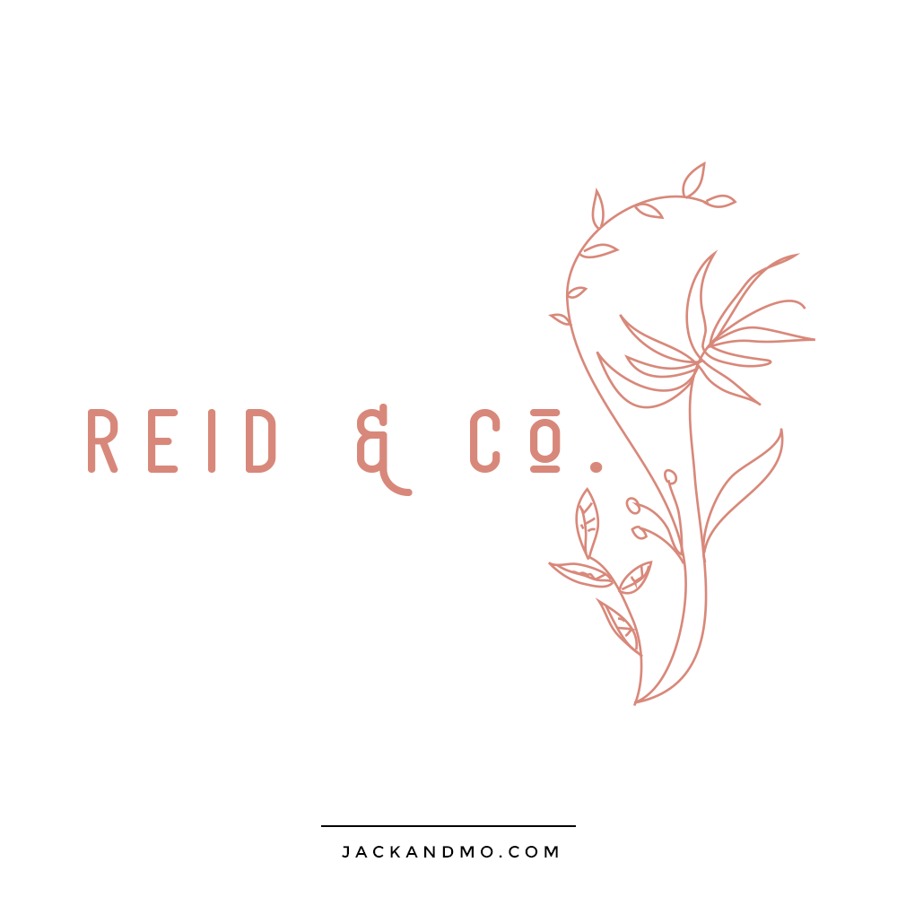 Feminine Hand Drawn Logo of a Plant by Jack and Mo