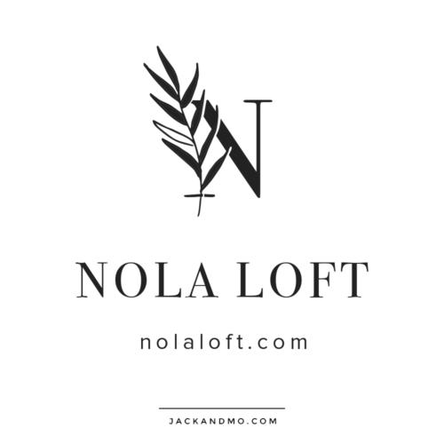 Leaf Initial Custom Logo Design by Jack and Mo Raleigh NC