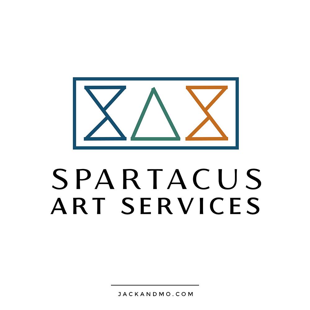 Logo Design for Spartacus Art Services, A Cool Modern Design
